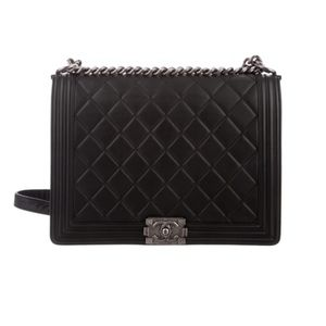 Chanel Boy Bag Large Black leather